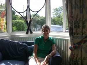 Nathalie Dechy hanging at the Wilson Wimbledon house