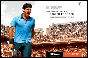 14 Time Grand Slam Champion Roger Federer