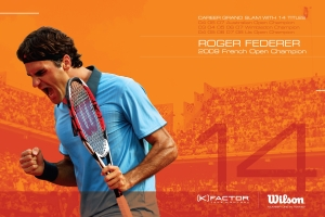 Roger Federer 14 time Grand Slam Champion