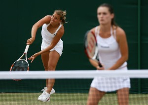 Barbora Zahlavova-Strycova and Iveta Benesova- 2009 Prague Doubles Finalists
