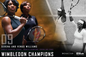 2009 Wimbledon Doubles Champion Venus and Serena