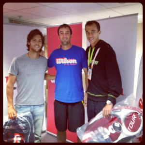Joao Sousa, Jacob Martin & Lukas Rosol at the Wilson suite in Paris