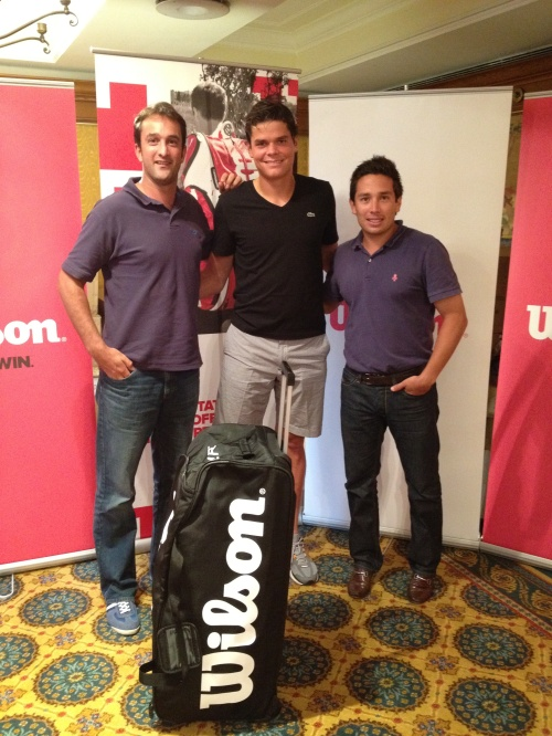 Jacob Martin, Milos Raonic and Mario Vergara