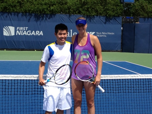 William Thach and Petra Kvitova