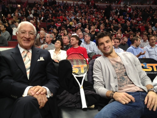 Vince, 'Wilsonita' and Grigor at the Chicago Bulls game